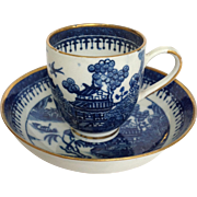 Caughley-Salopian Cup And Saucer 18th Century