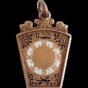 Masonic Mark Master Pendant or Charm 10 Karat