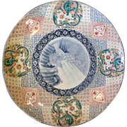 "Huge Imari Charger Japan 24"" Antique"