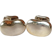 Tiffany Sterling Bean Cuff Links by  Elsa Peretti