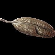 """Tiffany Sterling Leaf Pin Angela Cummings 2¾"""""""