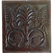 Thistle Oak Panel English 18th Century