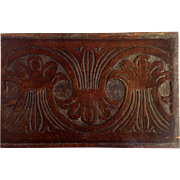 Carved Wheat Wood Panel England 18th Century