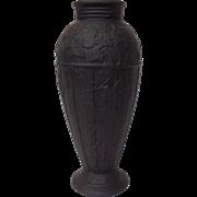 "Wedgwood Basalt Ivy Vase 7"""