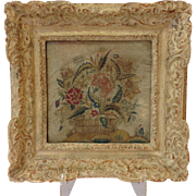 Antique Petite Point Framed 18th Century