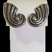 Taxco Sterling Screw Back Earrings Mexico