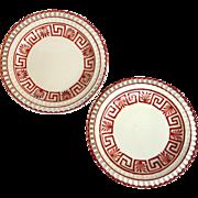 Pair of Creamware Plates Circa 1825