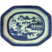 Chinese Export Canton Platter Early 19th Century 15""