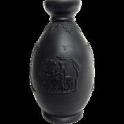 "Wedgwood Black Basalt Vase 5"""