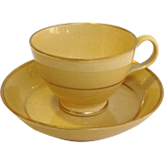 Wedgwood Yellow Child's Cup And Saucer Early 19th c.