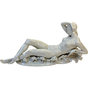 Herend Blanc De Chine Nude Artist Signed #15750