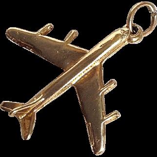 Airplane Charm 14 Karat Gold