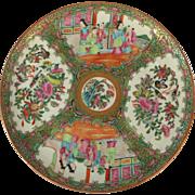 """Group Rose Mandarin 10"""" Dinner Plates 19th c."""