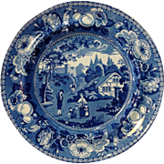 Staffordshire British Views Transferware Dinner Plate English 19th c.