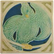 Rookwood Parrot Tile Trivet