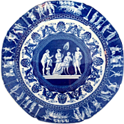 Pearlware Blue and White Plate Circa 1810