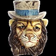 "Lion Figural Tobacco Jar Austrian 5¼"""