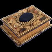 Sea Shell Folk Art Box Victorian Pin Cushion