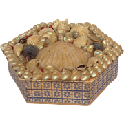 Sea Shell Box Folk Art