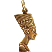 Nefertiti Charm Egyptian Queen 14 Karat Gold