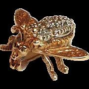 Diamond Bee Pin 14 Karat