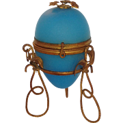 Blue Opaline Egg Perfume Palais Royal 19th Century