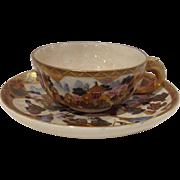 Satsuma Cup and Saucer Antique