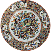 Thousand Butterfly Chinese Export Plate 19th Century