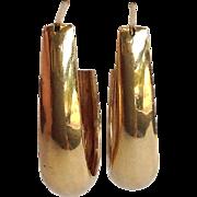 Loop Earrings 14 Karat Yellow Gold