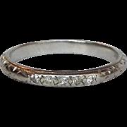 Platinum Diamond Ring Band Size 4.5