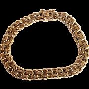 Double Link Charm Bracelet 14 Karat Gold