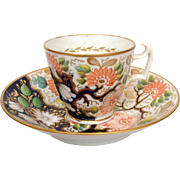 Spode Floral Cup and Saucer Circa 1825