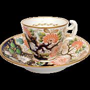 Spode Floral Cup and Saucer Circa 1825
