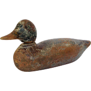 """Duck Decoy Antique Masons 15"""" Signed EAR Old"""
