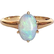 Opal Cabochon 14 Karat Gold Ring
