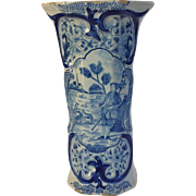 Tall Delft Vase Dutch Early 10""