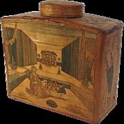 Chinoiserrie Straw Work Tea Caddy 18th Century