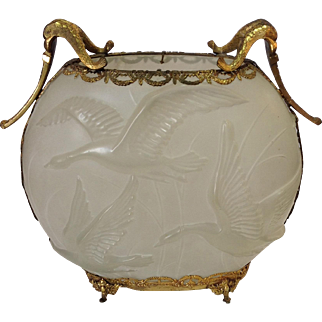 Flying Geese Phoenix Consolidated Vase with Ormalu Mounts 13""