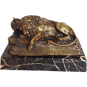 Swiss Lion Bronze Marble
