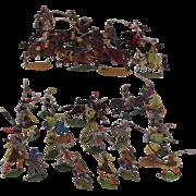 Toy Soldiers German Metal Painted Group of 30