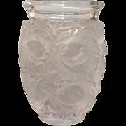 "Lalique Bagatelle Vase Birds and Leaves 6.75"""
