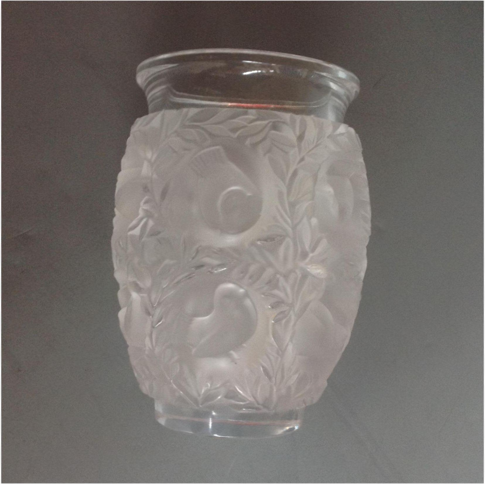 Lalique bagatelle vase birds and leaves 675 from roll over large image to magnify click large image to zoom reviewsmspy
