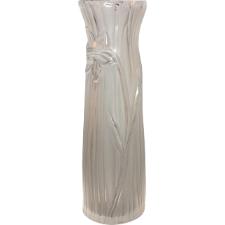 "Lalique Daffodil 10"" Vase Tall"