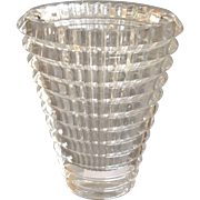 "Baccarat Oval Eye Vase Clear 5 .75"""