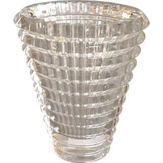 Baccarat Oval Eye Vase Clear 5 .75""