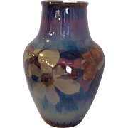 Rookwood Vase by Sara Sax Black Opal Glaze Tall