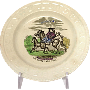 Donkey and Foal ABC Plate Staffordshire 5.5""