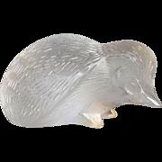 "Lalique Hedgehog 5.5"""