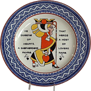 Wedgewood Queen of Hearts Plate Augustus L. Jansson 1909
