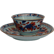Chinese Export Cup and Saucer 18th c.